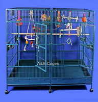 AECage 80 x40 Double Macaw Powder Coated