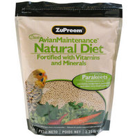 Zupreem Natural Small Bird 2.25 lb Bag