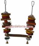 A&E Java Wood  Sea Shell Swing - Sm.