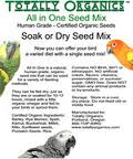 Totally Organics Soak Or Dry Seed Mix 1lb