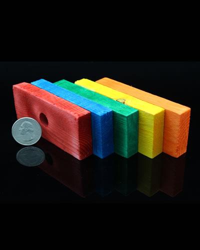 Colored Wood Blocks ~ Quot colored pine blocks bird toy parts mybirdstore