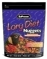 Zupreem Lory Diet Nuggets 2.5 lb bag