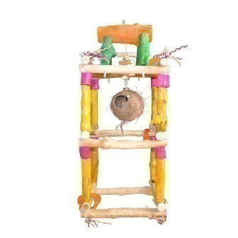 Med Hanging Double Play Stand-Java Wood