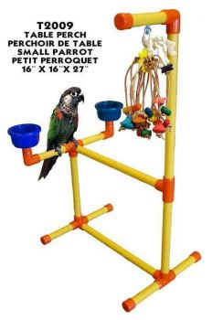 Zoo-Max Table Perch Sm. with Toy Hook